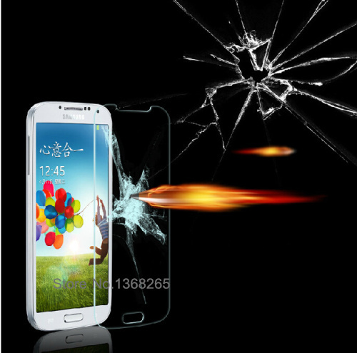 0.26mm 2.5D Ultra Thin Premium Explosion-proof Anti-scratch Samsung Galaxy S4 i9500 Tempered Glass Screen Protector Film