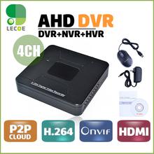 4CH Полный 960 H Или 720 P AHD HVR DVR Реальном Времени H.264 CCTV Видеонаблюдения DVR Рекордер HDMI P2P Сканирования iPhone Android пульт дистанционного управления