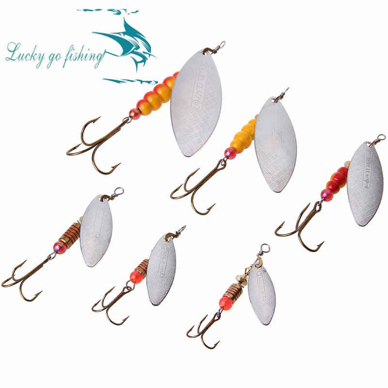 24pcs/lot Size 1 1Plus 2 Mepps Aglia ONG Fishing Lure Spoon Spinner Bait Lure With VMC Jig Hooks Tackle<br><br>Aliexpress