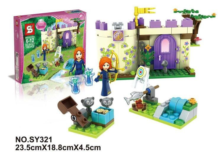 New SY321 Disn Princess Merida's Highland Games Girls Castle Bow for kids minifigures building block set toys children gifts(China (Mainland))