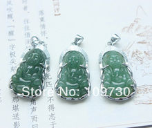 Wholesale discount dh 0038 100% Natural Hand-carved Bodhisattva Chinese Jade Pendants(China (Mainland))