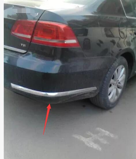 VW Passat CC Rear Bumper Polished Chrome Stainless Steel Protector 2012 />