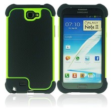 Impact Rubber Shockproof Hard Case Cover For Samsung Galaxy Note 2 N7100 Note II Armor Heavy Duty(China (Mainland))