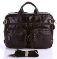 Quality Vintage First Layer Real Genuine Leather Bag Men Messenger Bags Business Portfolios Briefcase Handbags for