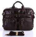 Quality Vintage First Layer Real Genuine Leather Bag Men Messenger Bags Business Portfolios Briefcase Handbags for