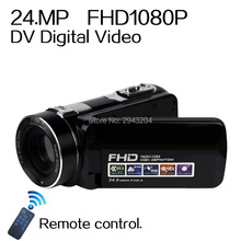 "Buy Remote Control 1080P Full HD digital Video Camera 3.0"" LCD Touch Screen 24 MP 16x Digital Zoom Camcorder DV+Wide Angle Lens for $71.61 in AliExpress store"