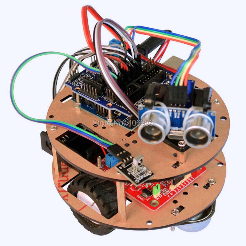 Smart Little Turtle Kit Gear Motor Wheel Bluetooth Module Ultrasonic Sensor for Arduino FZ1541