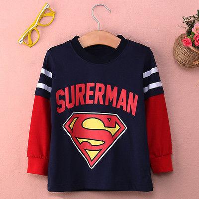 1-7Year Горячая Супермен Бэтмен Дети Мальчики Мультфильм Толстовка Толстовки Топы майка
