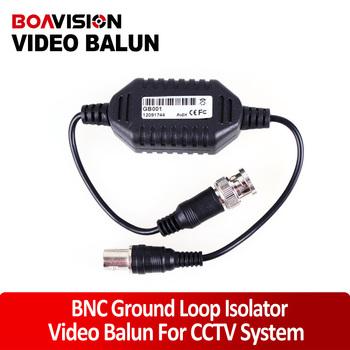 CCTV Camera Video Balun Ground Loop Isolator Coaxial Cable  BNC Balun Connectors