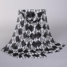 new fashion style  rose Scarves women's scarf long shawl spring silk pashmina chiffon infinity scarf(China (Mainland))