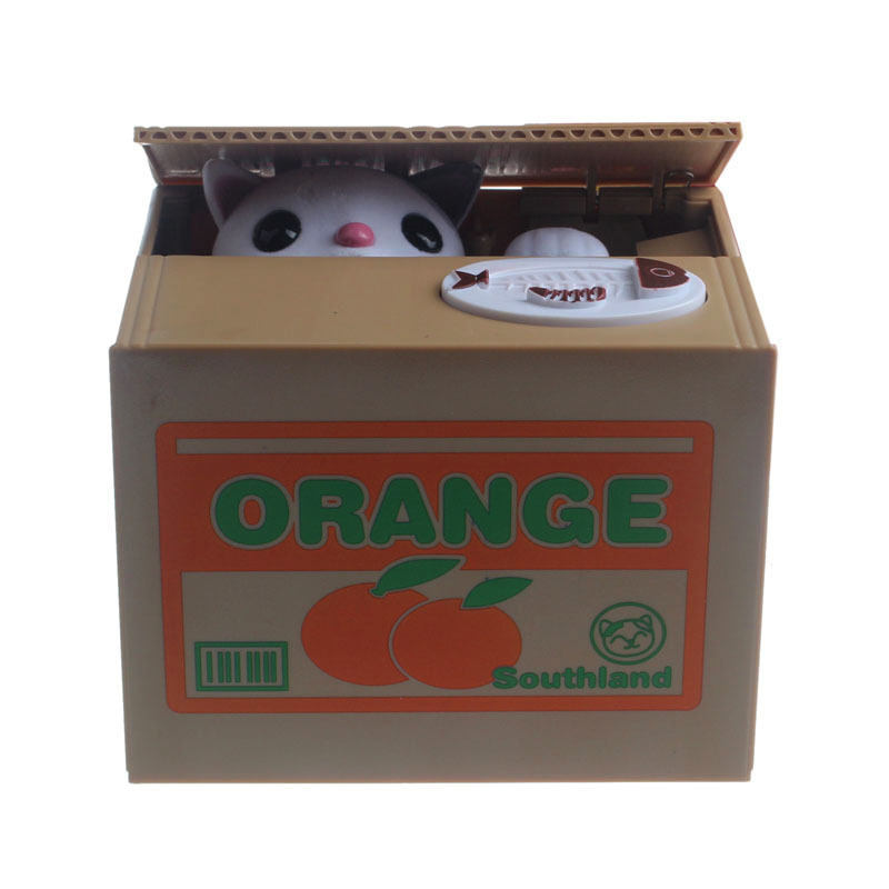 Vosicar Automated Cat Steal Coin Bank Piggy Bank Money Saving Box Gifts Hot Sale(China (Mainland))