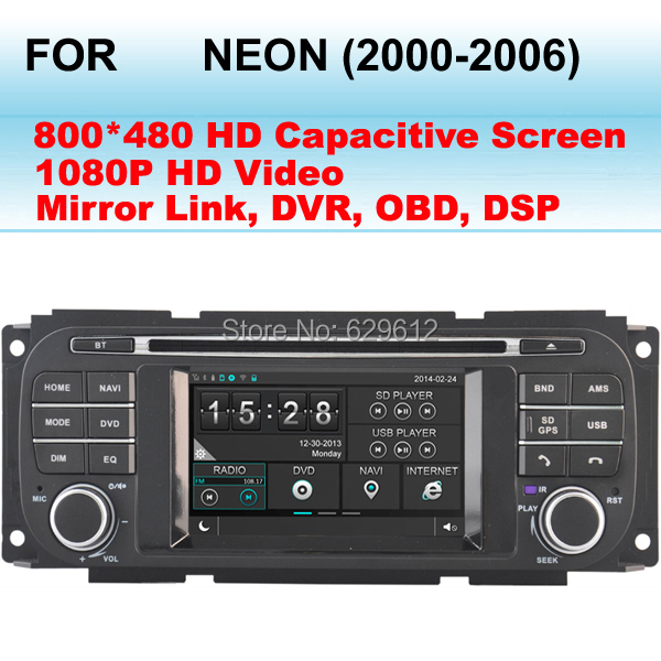 Car Radio GPS For Dodge Neon Car DVD Player Stereo (2000-2006) Audio SD USB iPod Radio AUX Bluetooth Navigation(China (Mainland))