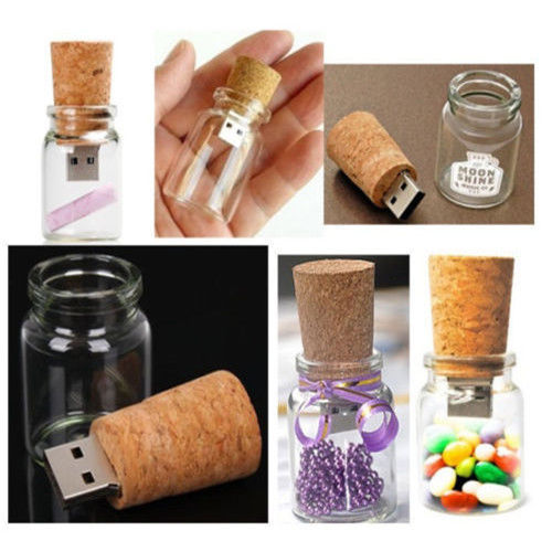 Free shipping 8GB high capacity factory price 50 pieces/lot High Speed Glass Drift Bottle Memory USB with Competitive price(China (Mainland))