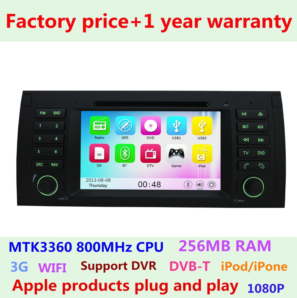 Factory Price Car DVD Player for bmw 5 Series E39 X5 E53 M5 7 Series E38 GPS Navigation 3G WIFI USB Radio Bluetooth(China (Mainland))