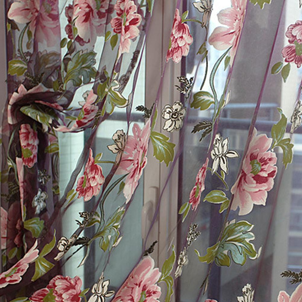 Оптовая Продажа Новые 1*2 м романтические цветочные тюль вуаль двери окна шторы с aeProduct.getSubject()