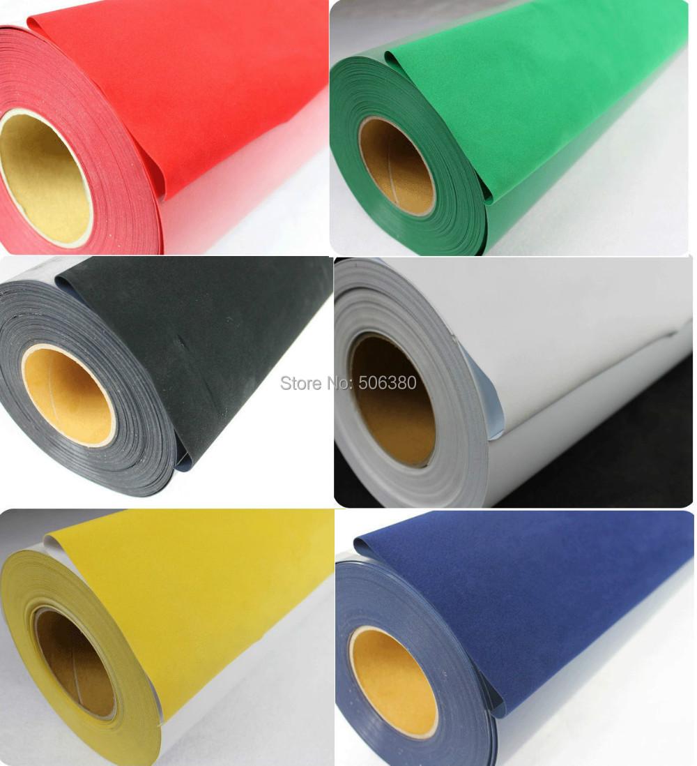 "6Rolls 20""x3' Flocking Heat Transfer Vinyl For Plotter Transfer in 6 Colors(China (Mainland))"
