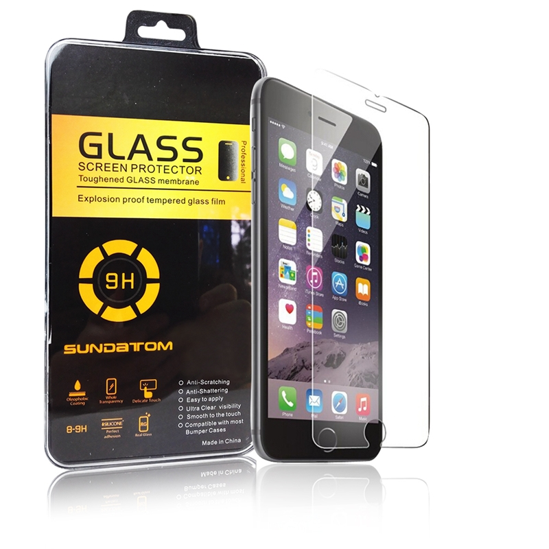 Sundatom ultra thin high quality 2.5D premium Tempered Glass screen protector for iPhone 6 6G 4.7 inch explosion proof glass(China (Mainland))