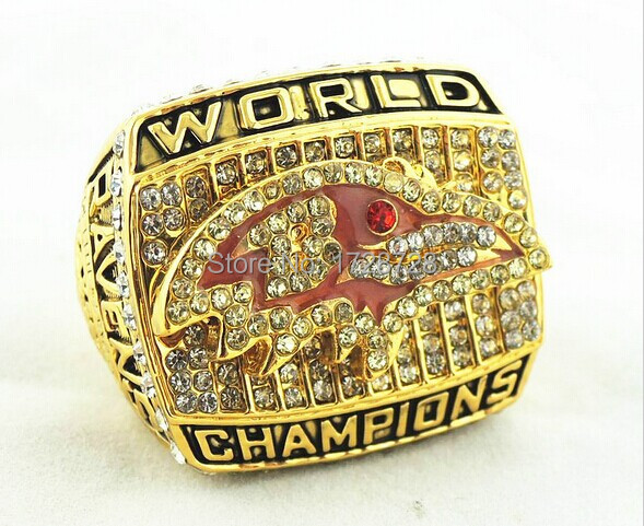 2015 hot sale 18k gold plated 2000 Baltimore Ravens super bowl championship rings high quality(China (Mainland))