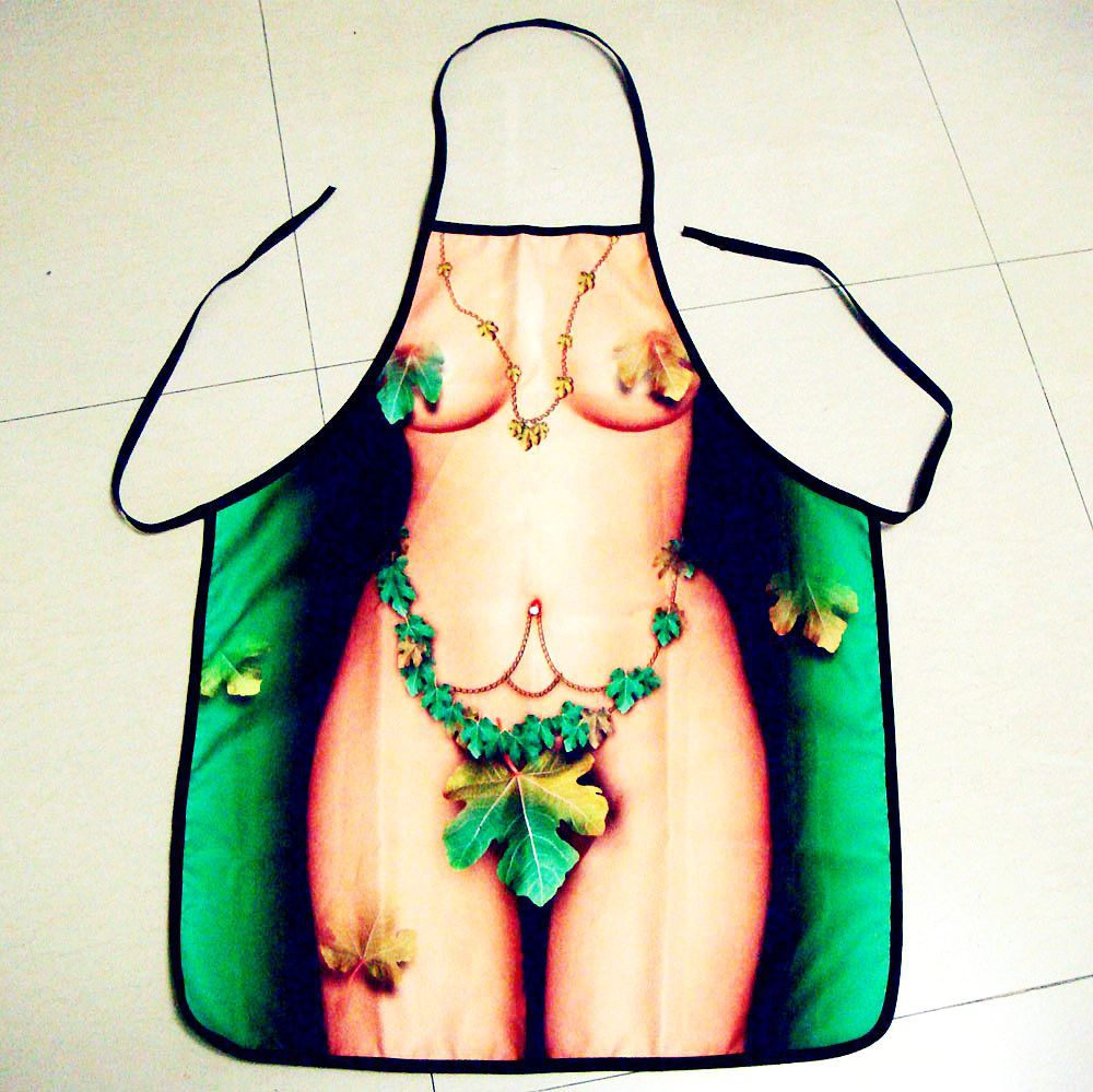 Kitchen Cooking Women Sexy Aprons Beach BBQ Party Cooking Hot Naked Women Sexy Aprons Funny Kitchen Party Apron Sexy Toys(China (Mainland))