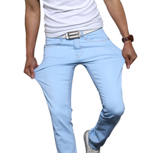 Men's jeans 2016 new fashion solid color stretch skinny jeans Feet pants Male casual trousers male pants Tights