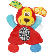 Baby Infant Plush Toy Comfort Towel with Sound Paper and Teether Baby Comfort Dog Lion Cute Plush Toys(China (Mainland))