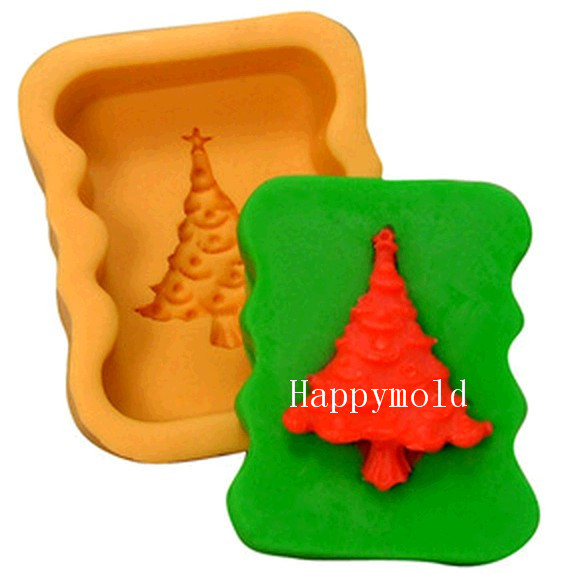 Christmas Cake Decoration Molds : Aliexpress.com : Buy Christmas Tree Fondant Cake Chocolate ...