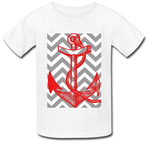 2015 Most popular Slim Fit Men T shirt Infinite Anchor pattern printed Free shipping Custom T Shirts Man(China (Mainland))
