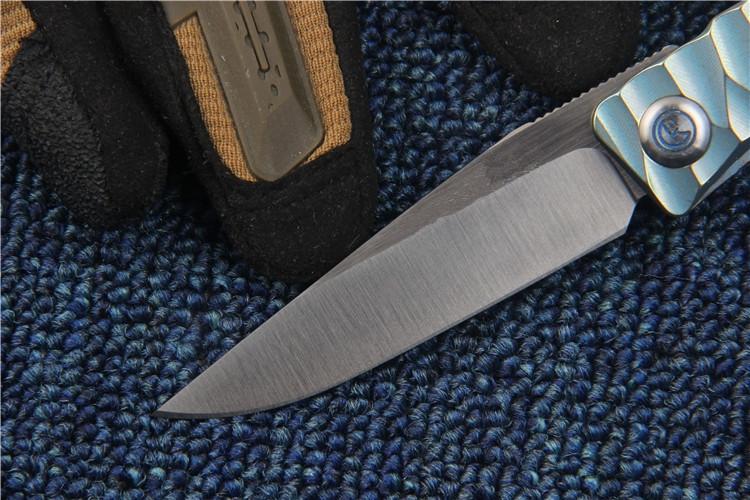 Buy KESIWO New MDS folding knife M390 blade outdoor tactical knife Titanium handle EDC Flipper pocket knife high quality hand tool cheap