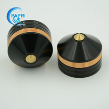Free Shipping 20pcs 39*33mm Black Aluminum Speaker Amplifier Feet Pad for CD Player Computer Chassis DAC Machine Feet