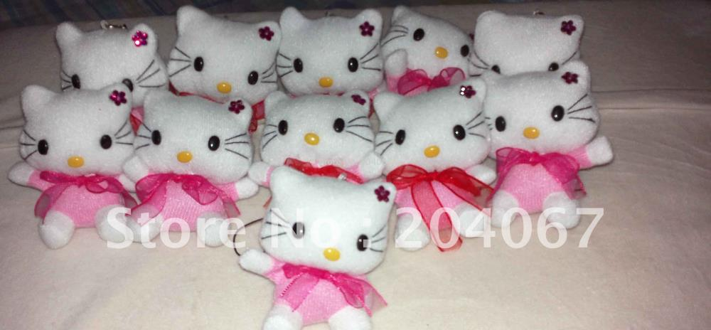 2014 NEW PLUSH hello kitty plush TOYS 7CM SIZE FREE SHIPPING 90PCS/LOT(China (Mainland))