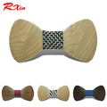 New 2016 Red Xin Handmade Top Fashion Funny Wooden Bow Tie Costume Bowtie Wedding Business Banquet