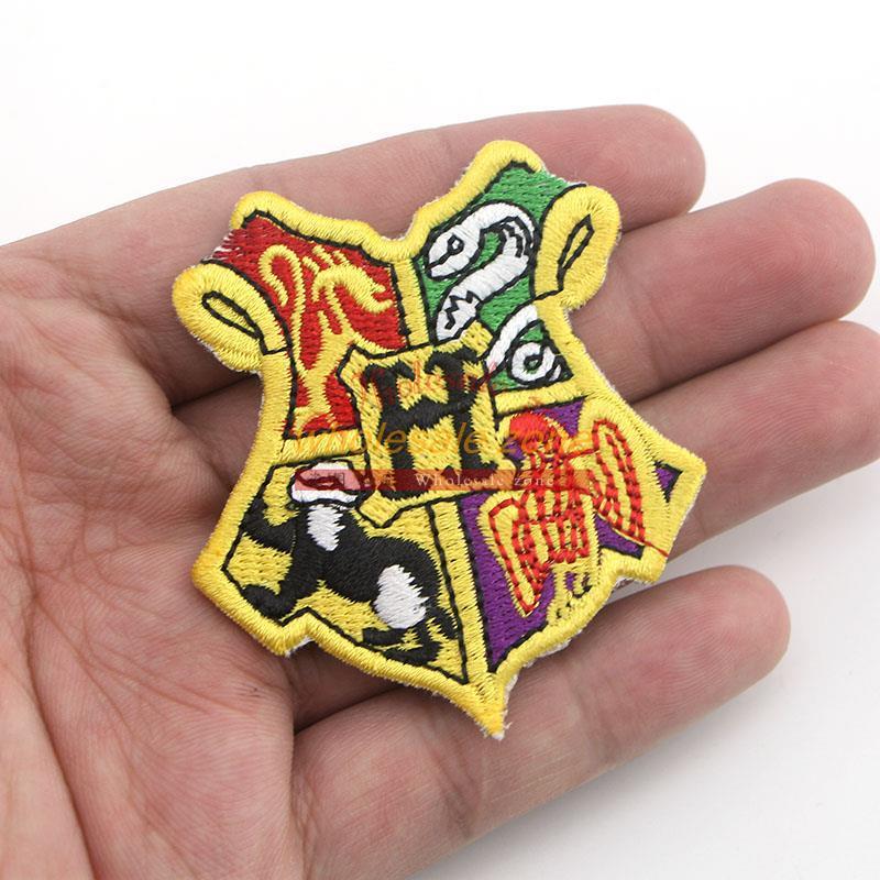 50pcs/lot Harry Potter HOGWARTS SCHOOL Emblem Embroidered Robe Iron On Patch rock retro applique wholesale dropship(China (Mainland))