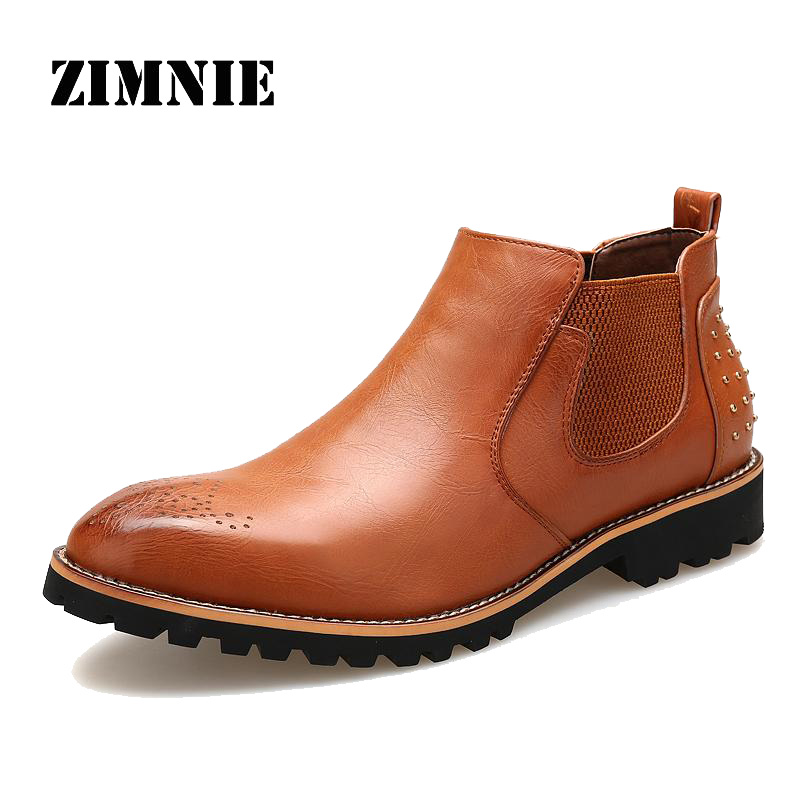 Hot Sale Men Boots Microfiber Leather British Shoes Autumn High Quality Brand Summer Cool Style Men Wild Fashion Boots(China (Mainland))