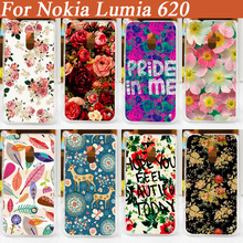 high quality diy printing beautiful flowers Cover Case FOR Nokia Lumia 620/ pattern Colored case for nokia 620(China (Mainland))