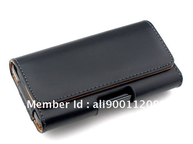 PU Holster Leather Case ,Mobile Bag For Samsung Galaxy S III I9300 Galaxy S3 with belt Clip black  + Free Shipping