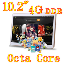 10.2 inch 8 core Octa Cores 1280X800 IPS DDR 4GB ram 32GB 8.0MP 3G Dual sim card Wcdma+GSM Tablet PC Tablets PCS Android4.4 7 9