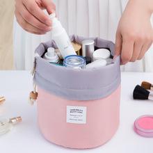 Barrel Shaped Make up Organizer Bag Men Casual Travel Bag Multi Functional Women Cosmetic Bags Storage Bag in bag Makeup Handbag(China (Mainland))