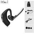 V8 Voyager Legend Bluetooth Headset Wireless Earphone V4 1 Ear Hook Voice Control Support 2 Cell