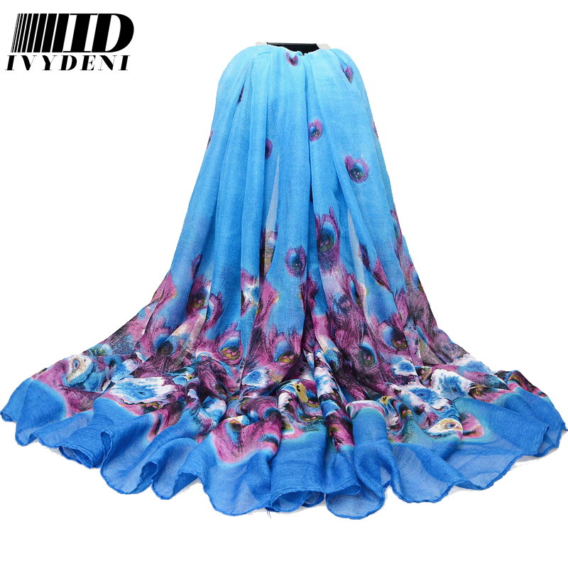 180*110cm 2016 New Ladies Large Cotton Scarf Women Summer Beach Cover Ups Printed Flower Twill Long Voile Scarf Shawl Air Pareo(China (Mainland))