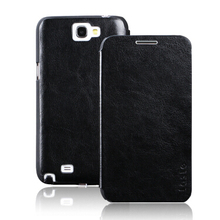 Luxury Leather Case for Samsung Galaxy Note2 N7100 Flip Cover  Phone shell for Samsung Note 2 free shipping(China (Mainland))