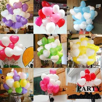 100pcs/lot 12'' heart balloon latex balloon air balls inflatable toy wedding party decoration kid globos party baloon 05066