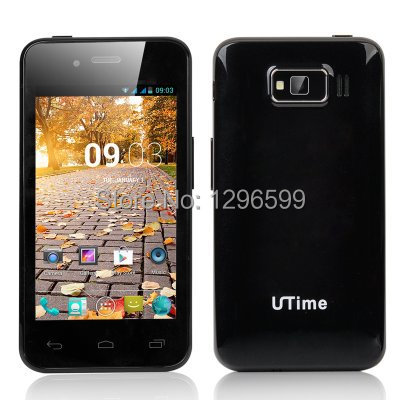 UTime U6 Android 4.2 Smartphone - 4 Inch 800x480 Screen, MTK6572 Dual Core 1.3GHz CPU, 512MB RAM, 4GB ROM (Black)(China (Mainland))