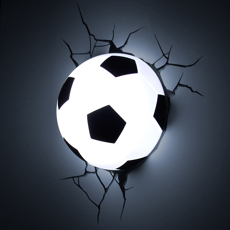 New arrival 2015 3D creative football Night light led wall lamp best christmas birthday gift to ...