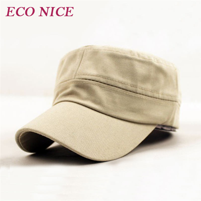Unisex Adjustable Summer Camping Military Cap Classic Army Plain Vintage Hat Cadet Hiking Hunting 091 - ECO NICE store