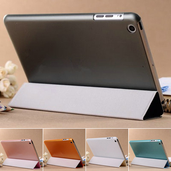Ultra Thin Magnetic with Stand PU Leather case for iPad Mini 1 Mini Retina Smart Cover New , PU Front Plastic Back Cover YOTONE