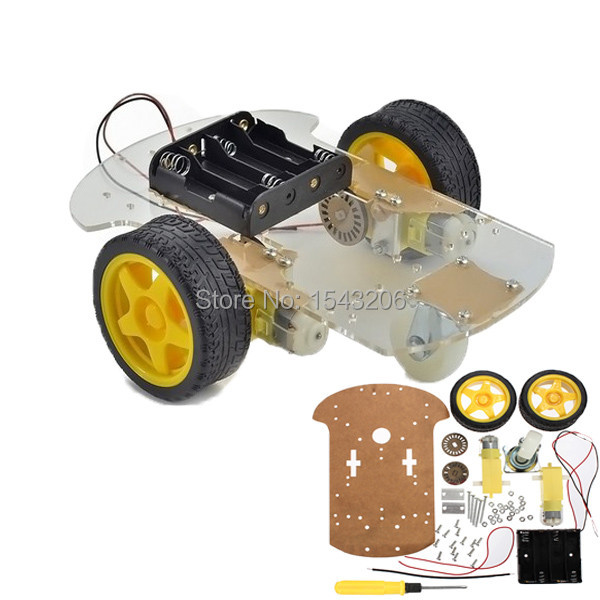 New High Quality 2wd Motor Smart Robot Car Chassis Kit Speed Encoder Battery Box For Arduino(China (Mainland))