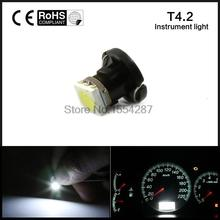 10X T4.2 LED 5050 SMD Car Board Instrument Panel Bulb lamp DC 12V White / Red / Blue / Green / Yellow instruments Light bulbs
