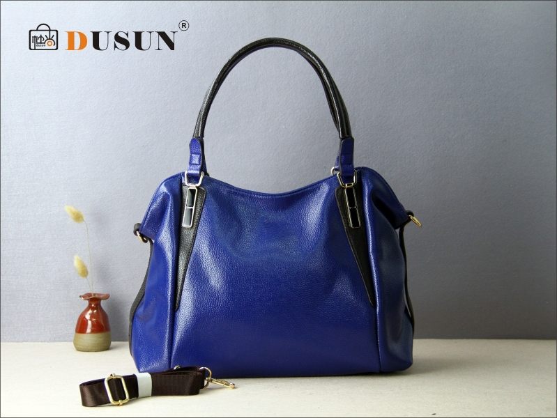 arrive Women Genuine leather bag 2015 vintage women bags handbag casual shoulder office ladies tote zipper - Dusun store