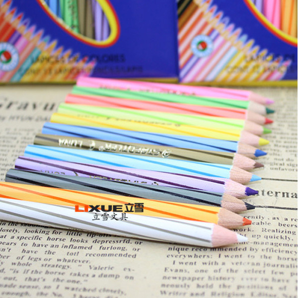 12pcs/set Wooden Colored Pencil  12 Colors Short Pencils Oil Base Non-toxic Pencil for Student  Learning Tools<br><br>Aliexpress