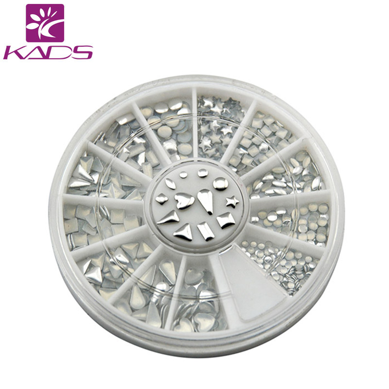 KADS 2016 Hotsale nail art metallic Flakes nail art decorations nails accessories design bling metal flake metallic Silver(China (Mainland))
